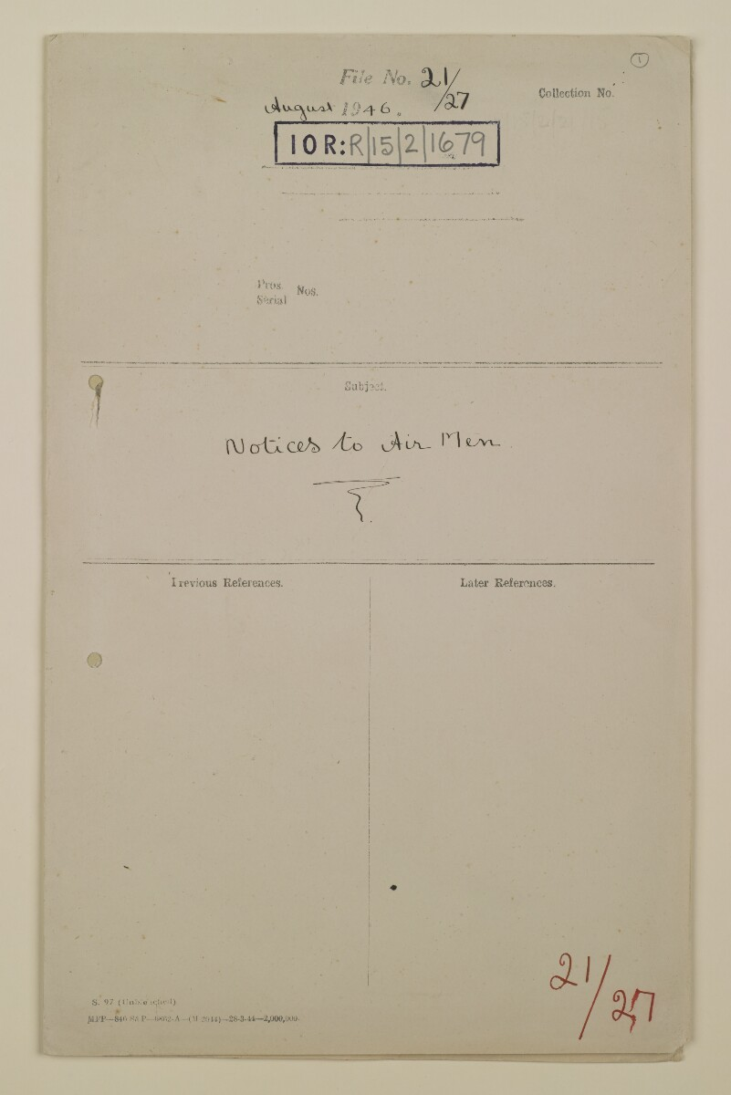 'File 21/27 Notices to Air Men' [‎front] (1/14)