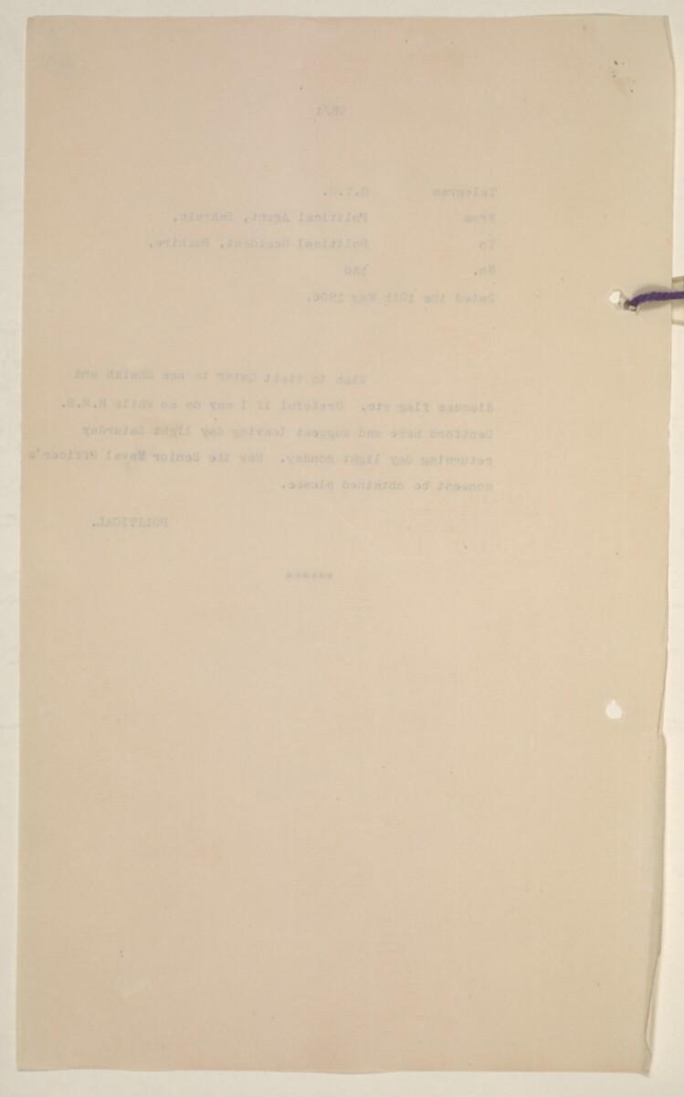 'Flags Flown by the Sheikh of Qatar. (Bahrain and Trucial Coast)' [40v] (84/142)