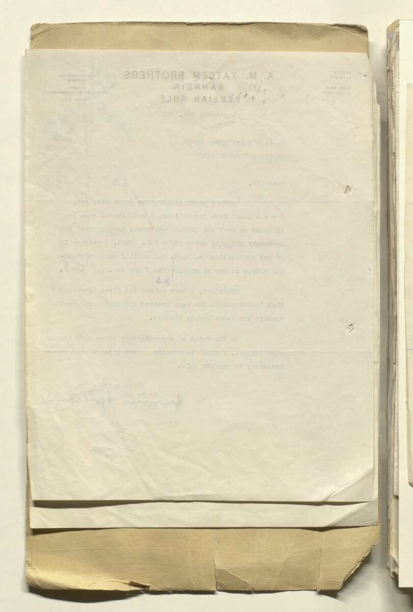 'File 36/44 Applications for Assistance to Export Cigarettes & Tobacco from India, U.S.A. & U.K.' [10v] (20/512)