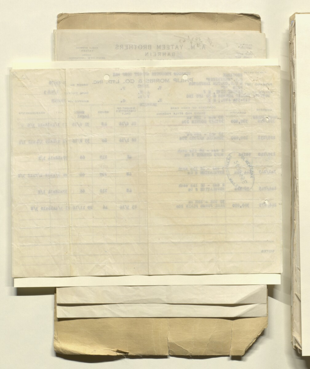 'File 36/44 Applications for Assistance to Export Cigarettes & Tobacco from India, U.S.A. & U.K.' [13v] (26/512)