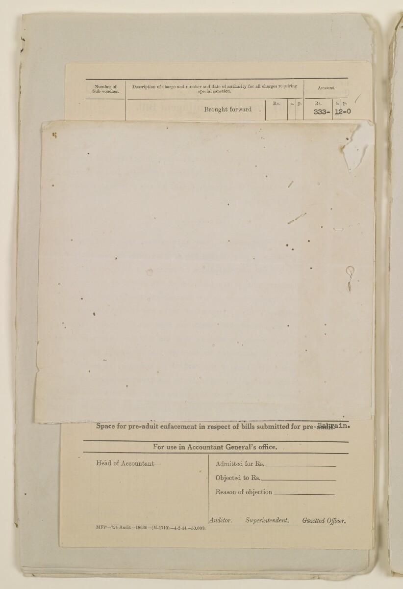 """""""مدفوعات بالنيابة عن مكتب العلاقات العامة في بوشهر وغيره - بيانات المتغيّبين - الحساب النقدي"""" [<span dir=""""ltr"""">ظ٧٧</span>] (١٠٩٨/١٥٤)"""