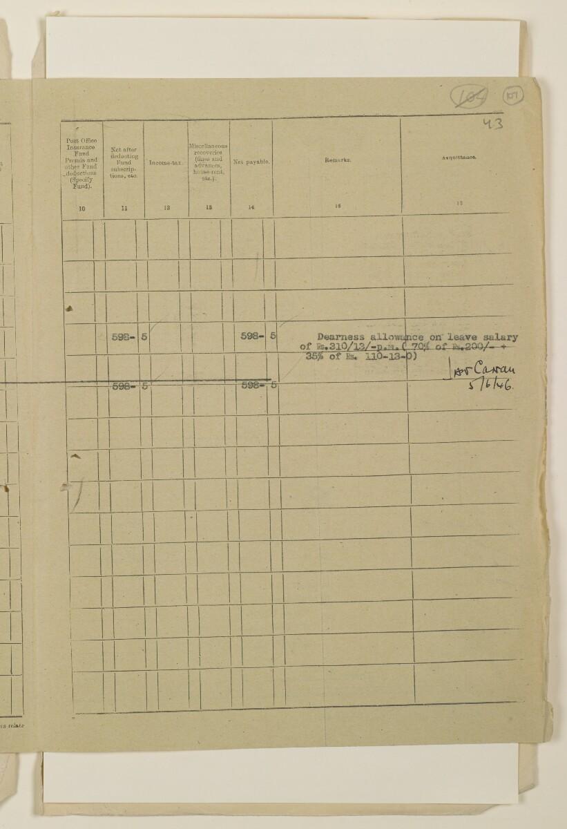 """""""مدفوعات بالنيابة عن مكتب العلاقات العامة في بوشهر وغيره - بيانات المتغيّبين - الحساب النقدي"""" [<span dir=""""ltr"""">و١٠٧</span>] (١٠٩٨/٢١٣)"""