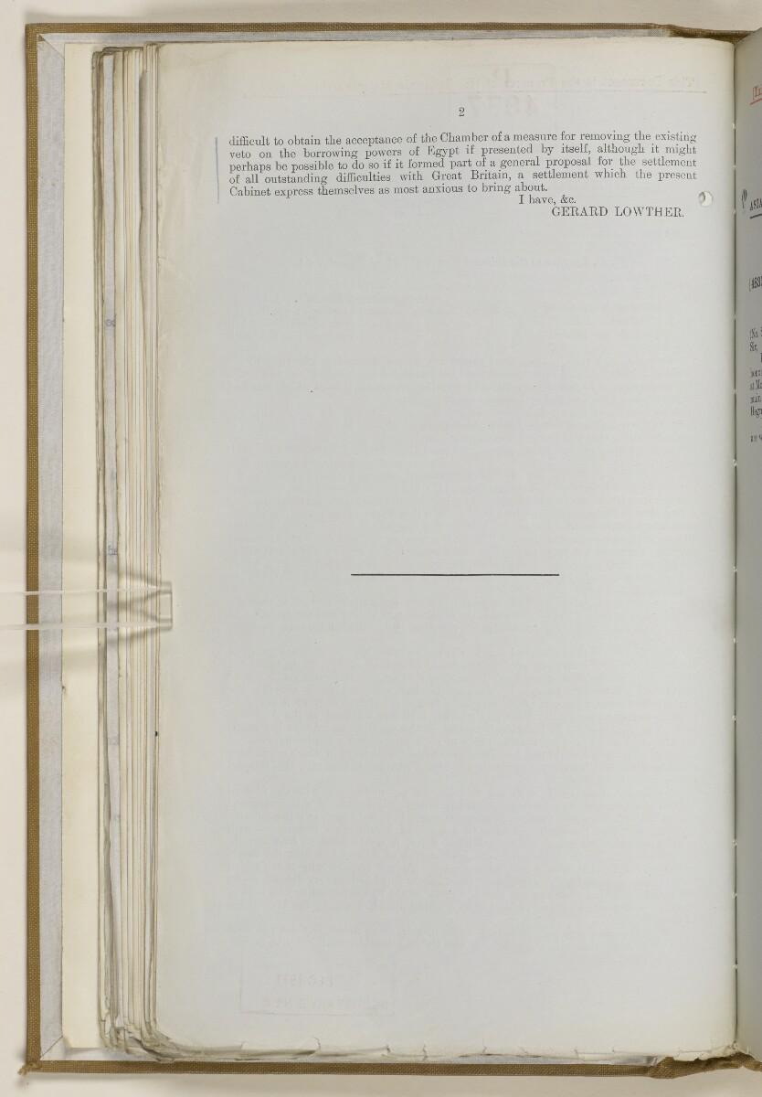 File 2764/1904 Pt 3 'Baghdad Railway: general negotiations 1910-1912.' [94v] (197/544)