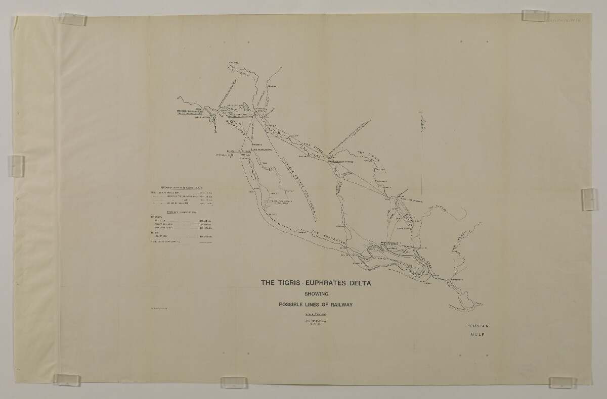 'THE TIGRIS-EUPHRATES DELTA SHOWING POSSIBLE LINES OF RAILWAY' [‎153Ar] (1/2)