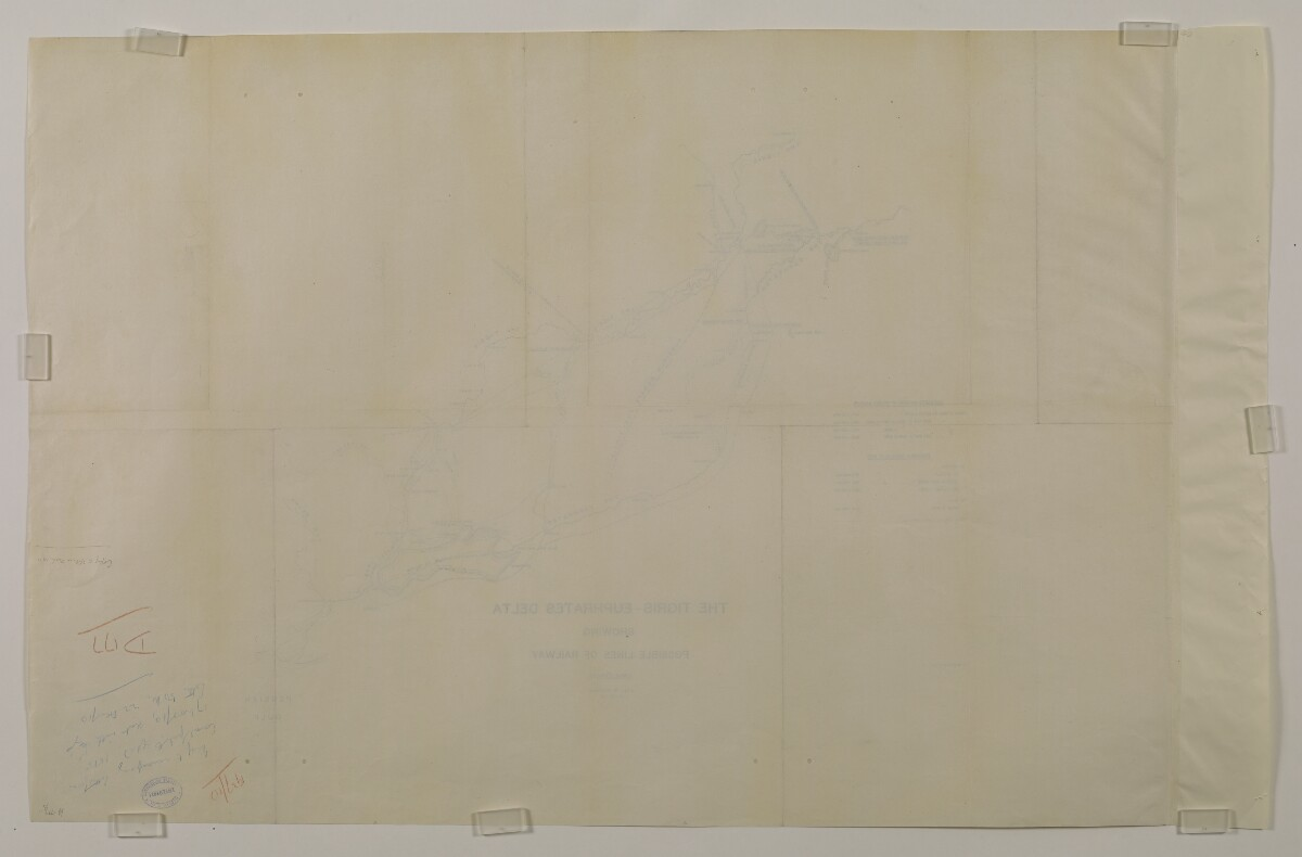 'THE TIGRIS-EUPHRATES DELTA SHOWING POSSIBLE LINES OF RAILWAY' [153Av] (2/2)