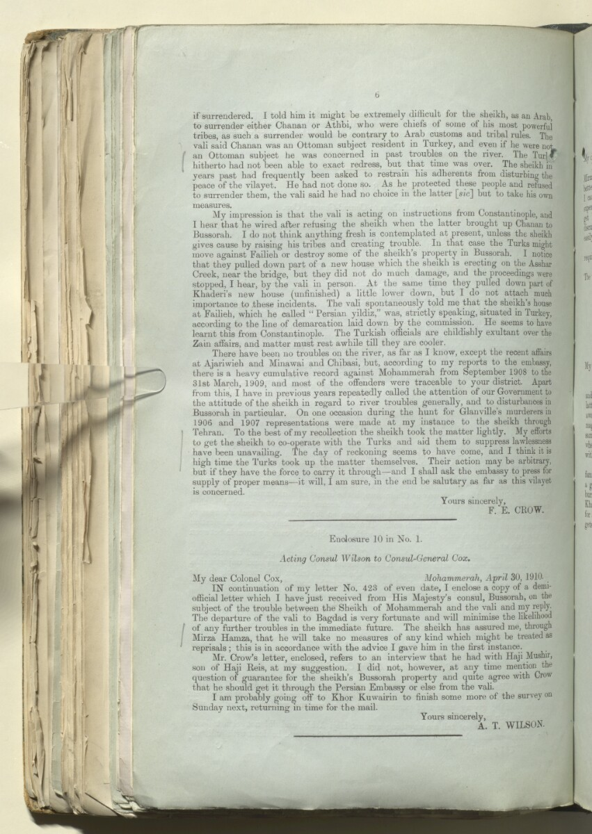File 345/1908 Pt 2 'Mohammerah: situation  Sheikh's dispute