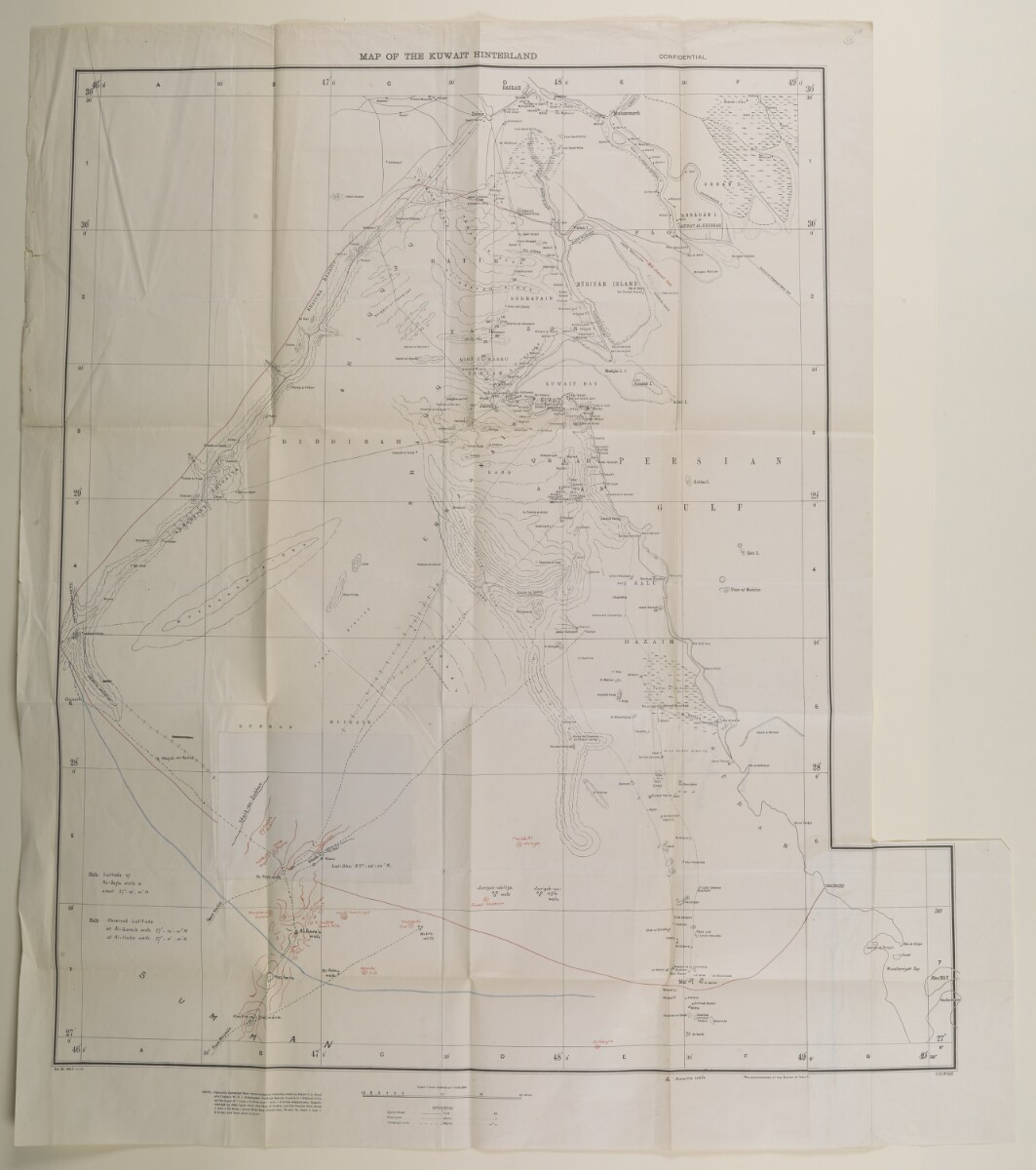 File 1247/1912 Pt 1 'Turkey:- Communication to Turkish Govt of agreement between Gt. Britain and Koweit, Bahrein & Trucial Chiefs. Decorations for Sheiks of Koweit, Mohammerah & Bahrein in connection with Anglo-Turkish Convention.' [57r] (33/336)