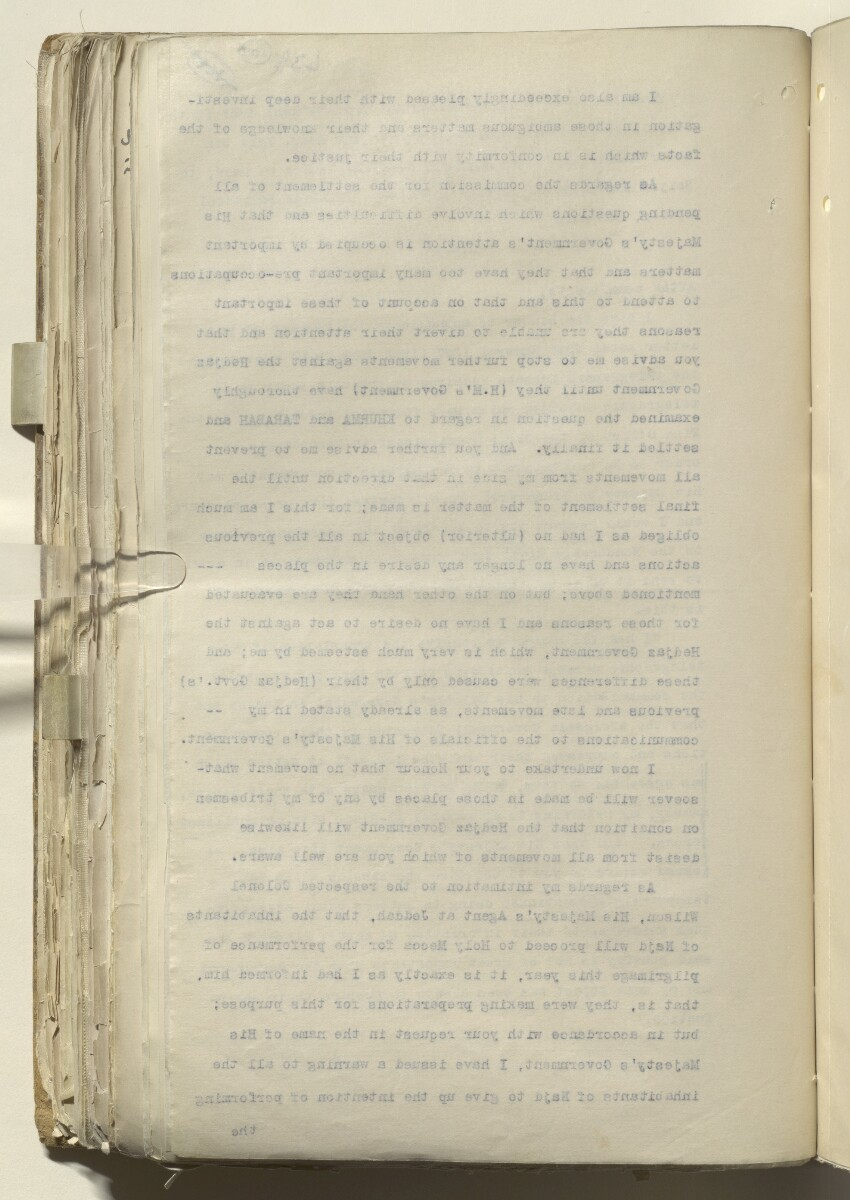File 2182/1913 Pt 10 'N.W. Frontier: Proposed Russian zoological expedition' [309v] (210/664)
