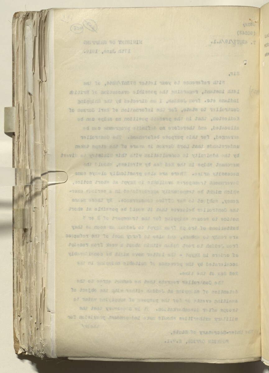 File 2182/1913 Pt 10 'N.W. Frontier: Proposed Russian zoological expedition' [456v] (505/664)