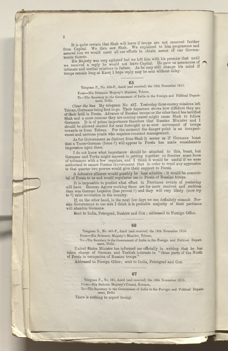 File 3443/1914 Pt 2 'German War: German emissaries to Afghanistan' [‎3v] (13/490)