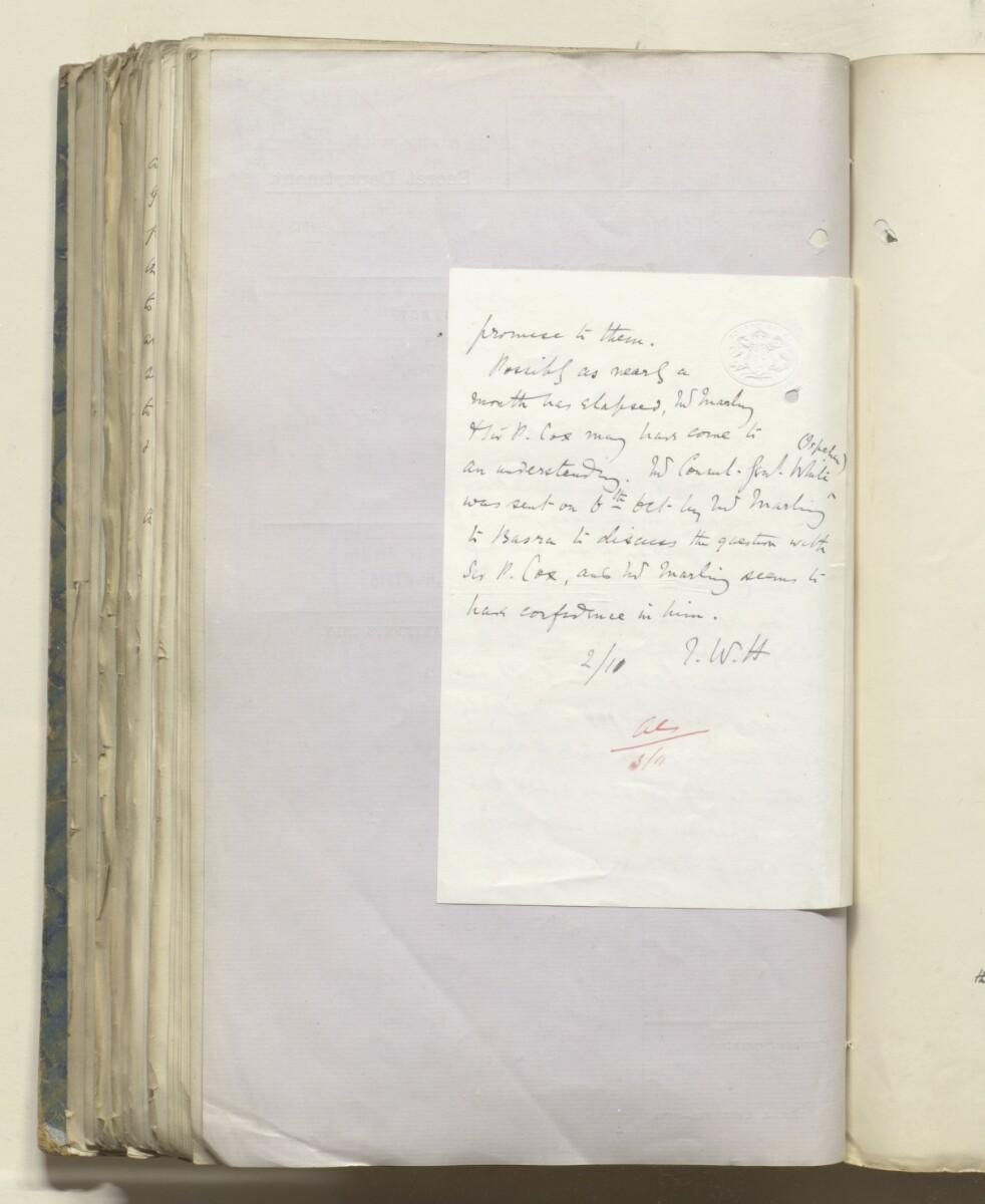 File 469/1917 Pt 1 'Persia: Bakhtiari affairs' [218v] (448/535)