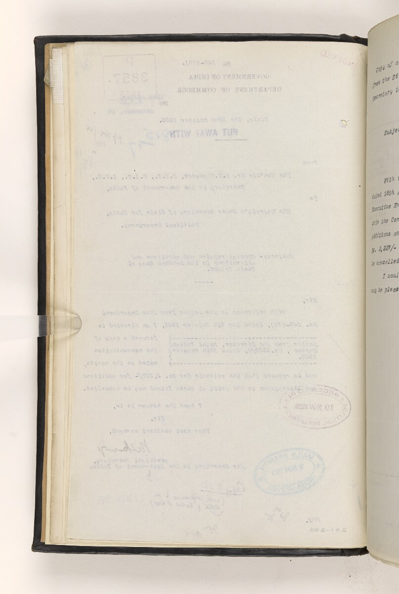 File 815/1917 Pt 3 'Persian Gulf:- Lighting & Buoying. Repairs to Lighthouse buildings at Quoin Island & Tamb Island.' [12v] (20/173)