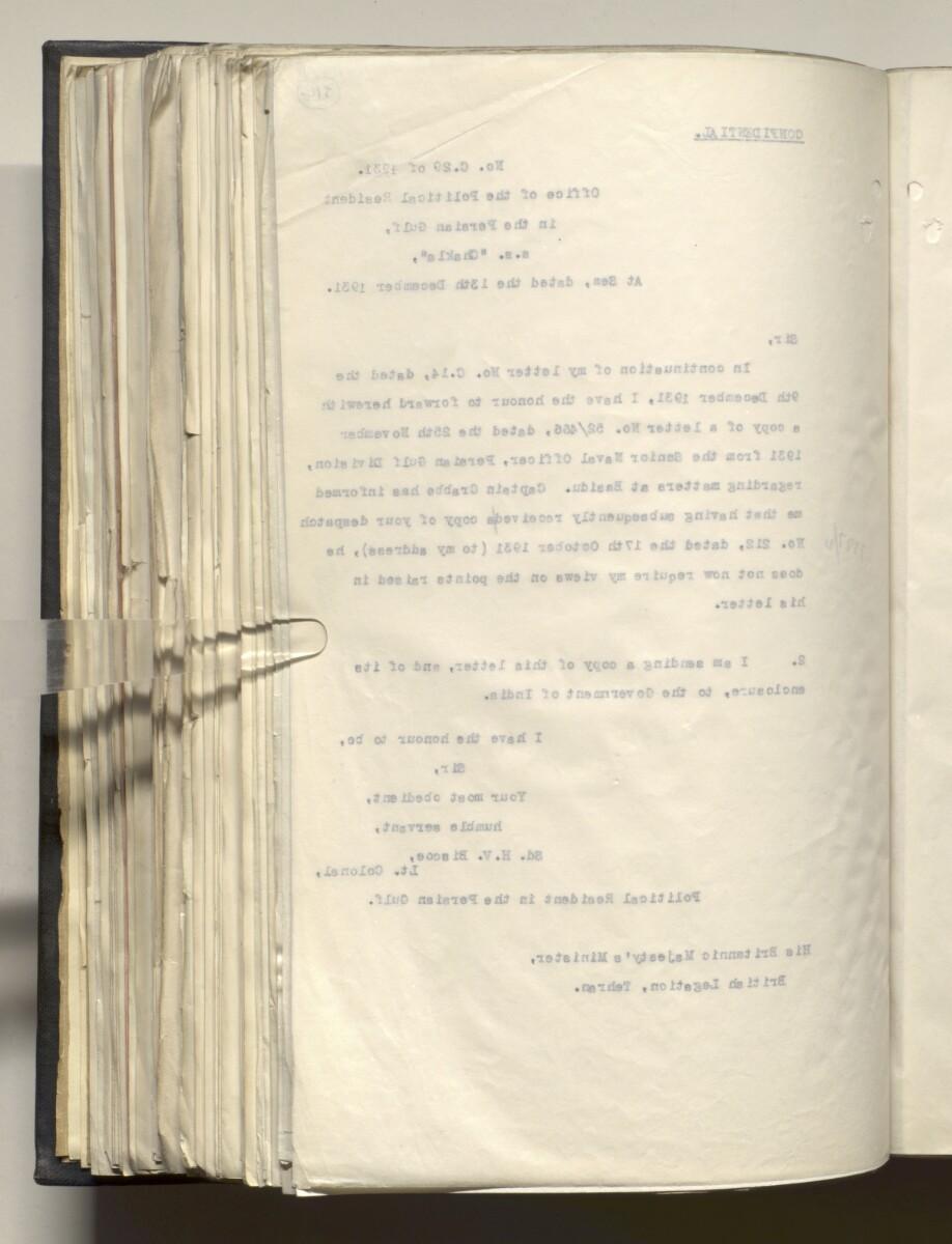 File 4011/1923 Pt 1 'PERSIAN GULF NEGOTIATIONS 1928-33. BASIDU.' [314v] (633/1306)