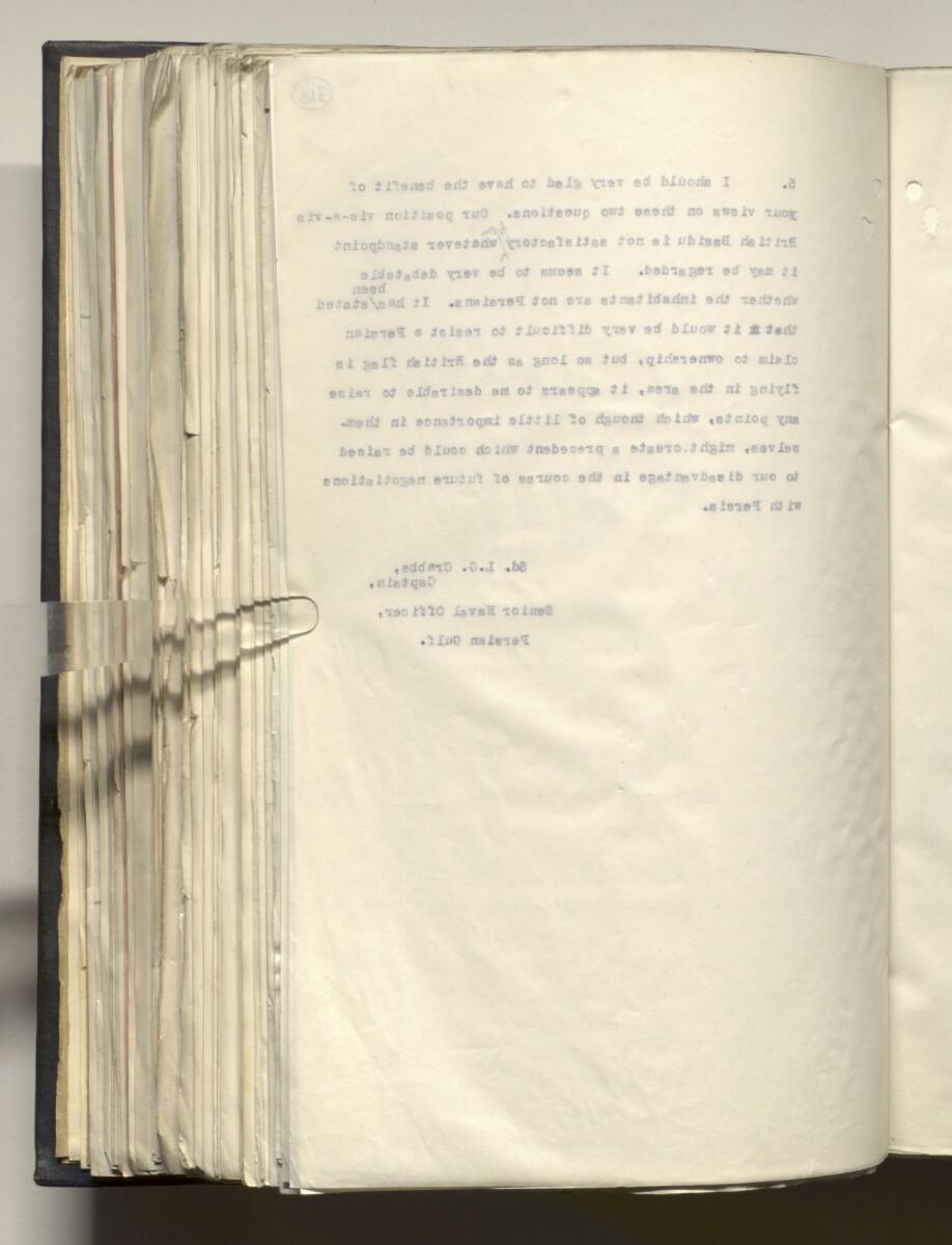 File 4011/1923 Pt 1 'PERSIAN GULF NEGOTIATIONS 1928-33. BASIDU.' [316v] (637/1306)