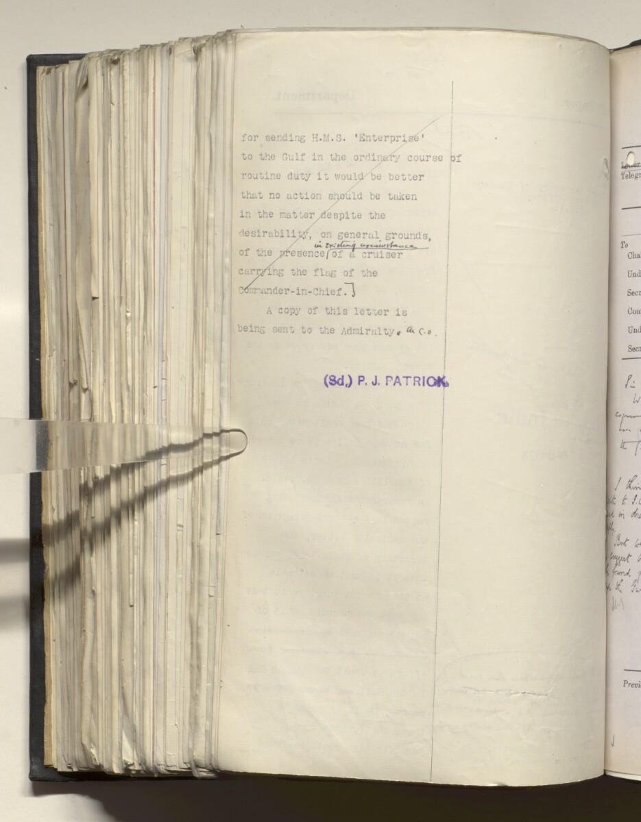 File 4011/1923 Pt 1 'PERSIAN GULF NEGOTIATIONS 1928-33. BASIDU.' [554v] (1113/1306)