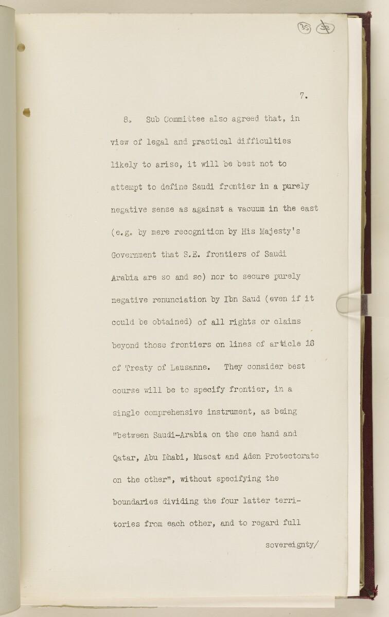 Coll 6/67(2) 'Boundaries of South-Eastern Arabia and Qatar.' [35r] (74/734)