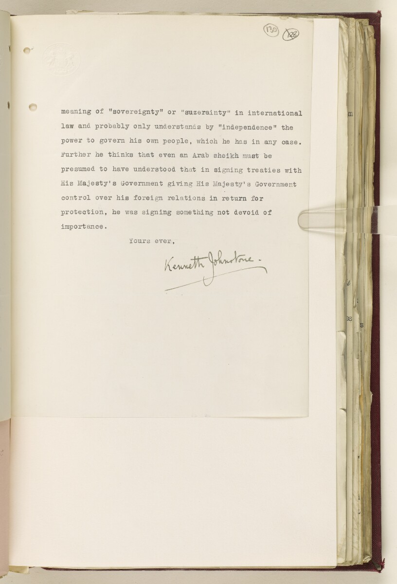 Coll 6/67(2) 'Boundaries of South-Eastern Arabia and Qatar.' [‎130r] (264/734)