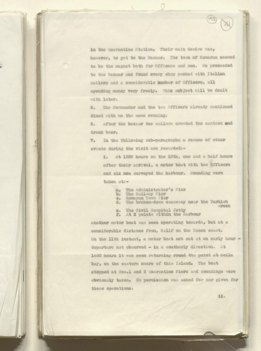 Coll 6/84 'Yemen: Attitude of Yemeni Govt. towards the Italo-Ethiopian dispute. Policy of H.M.G. in event of Italian occupation of Yemeni territory.' [152r] (303/699)