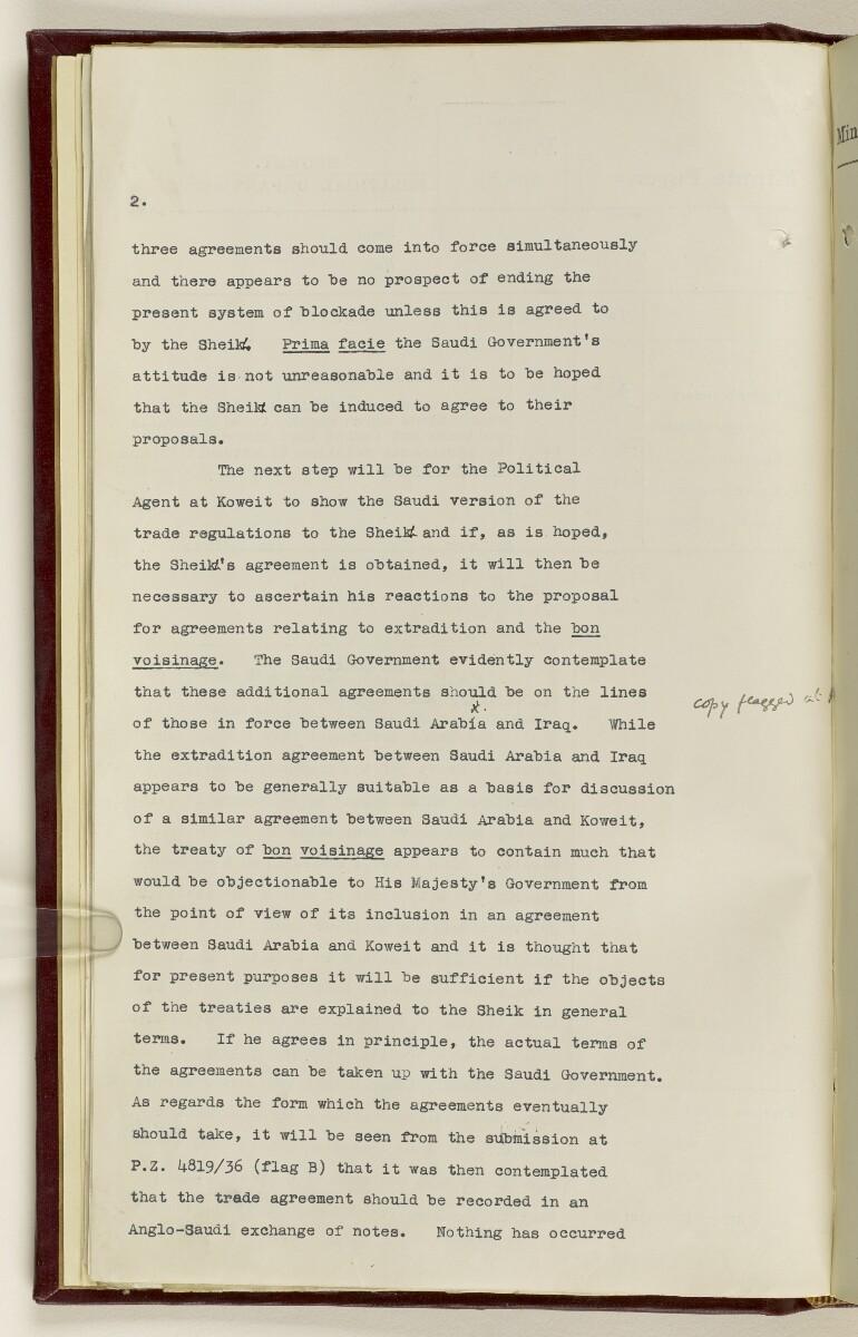 Coll 30/21(2) 'Persian Gulf: Koweit - Blockade by Ibn Saud' [19v] (49/1010)