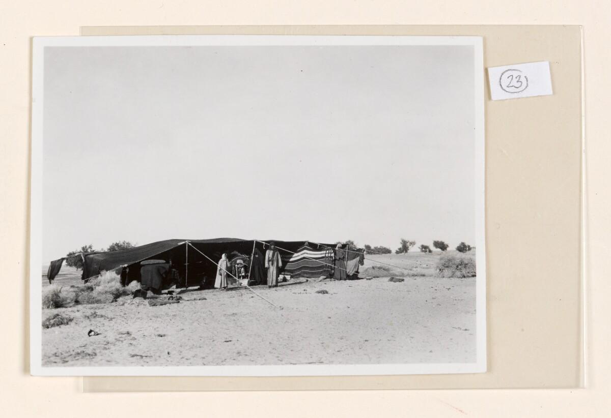 'No.2. Bedouin tent.' [23r] (1/2)