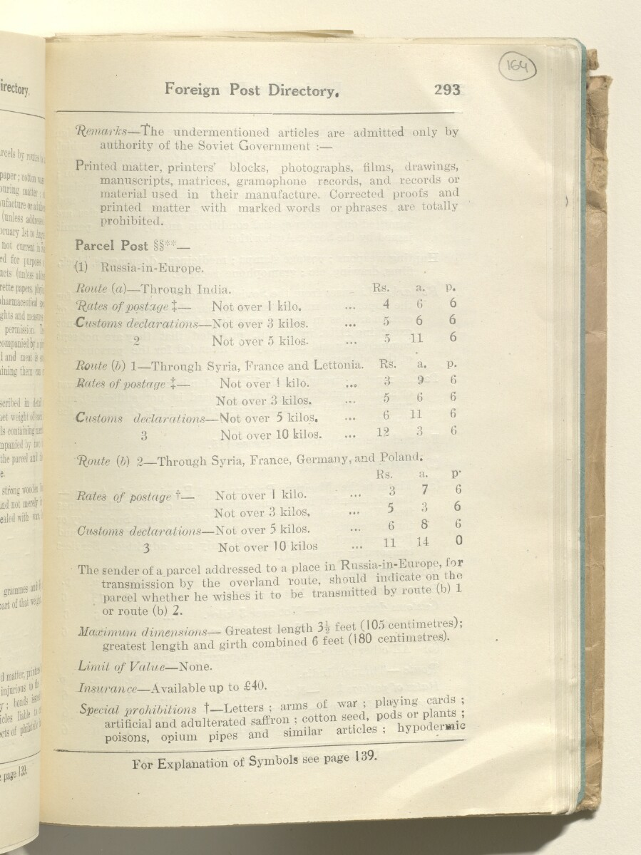 'Iraqi Post and Telegraph Guide 1930' [164r] (346/483)