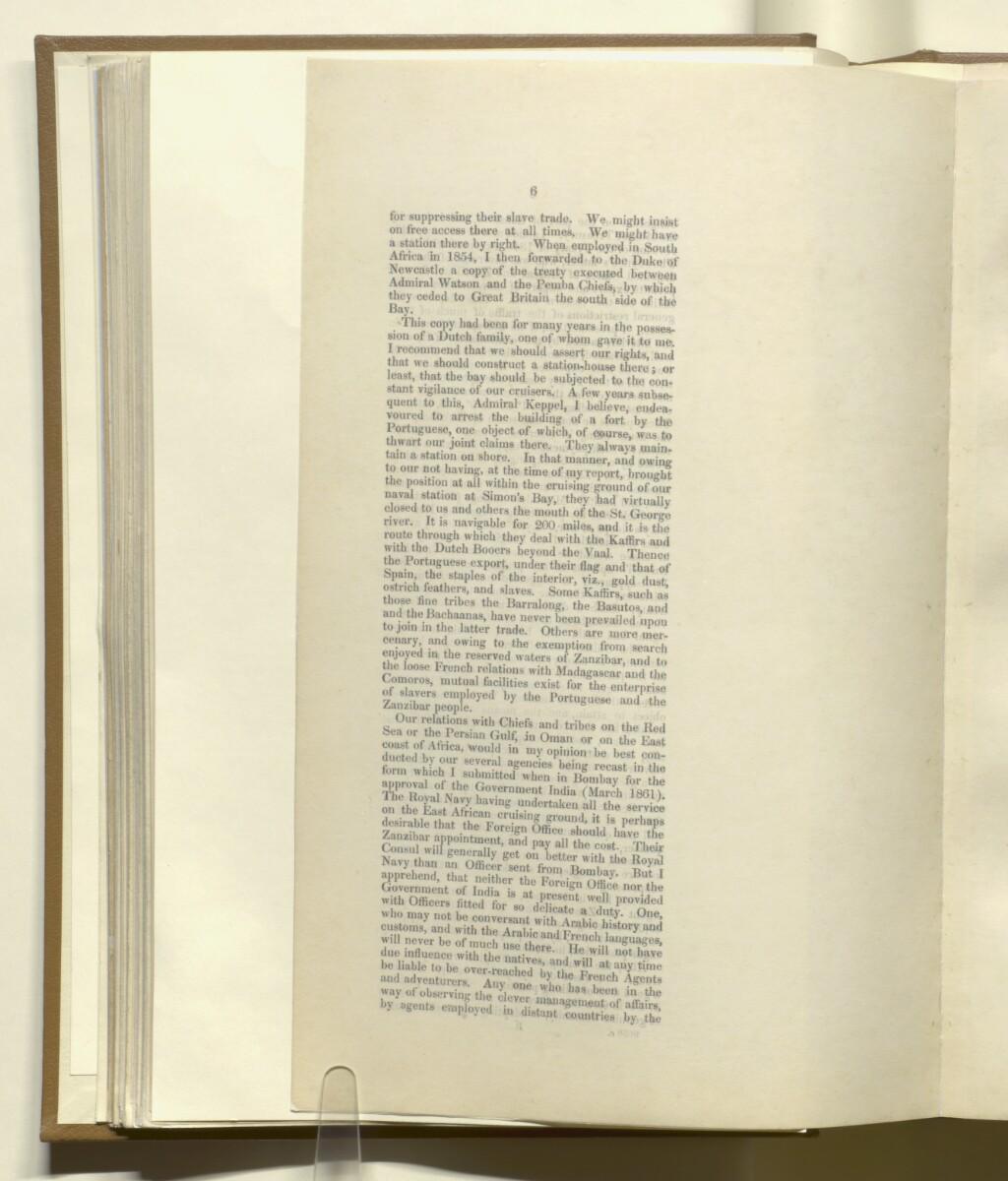 'Persian Gulf; Muscat and Zanzibar' [40v] (6/8)
