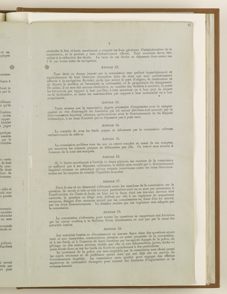 'No. 1. Anglo-Turkish Agreement. Collection of documents signed on July 29, 1913.' [‎83r] (3/20)