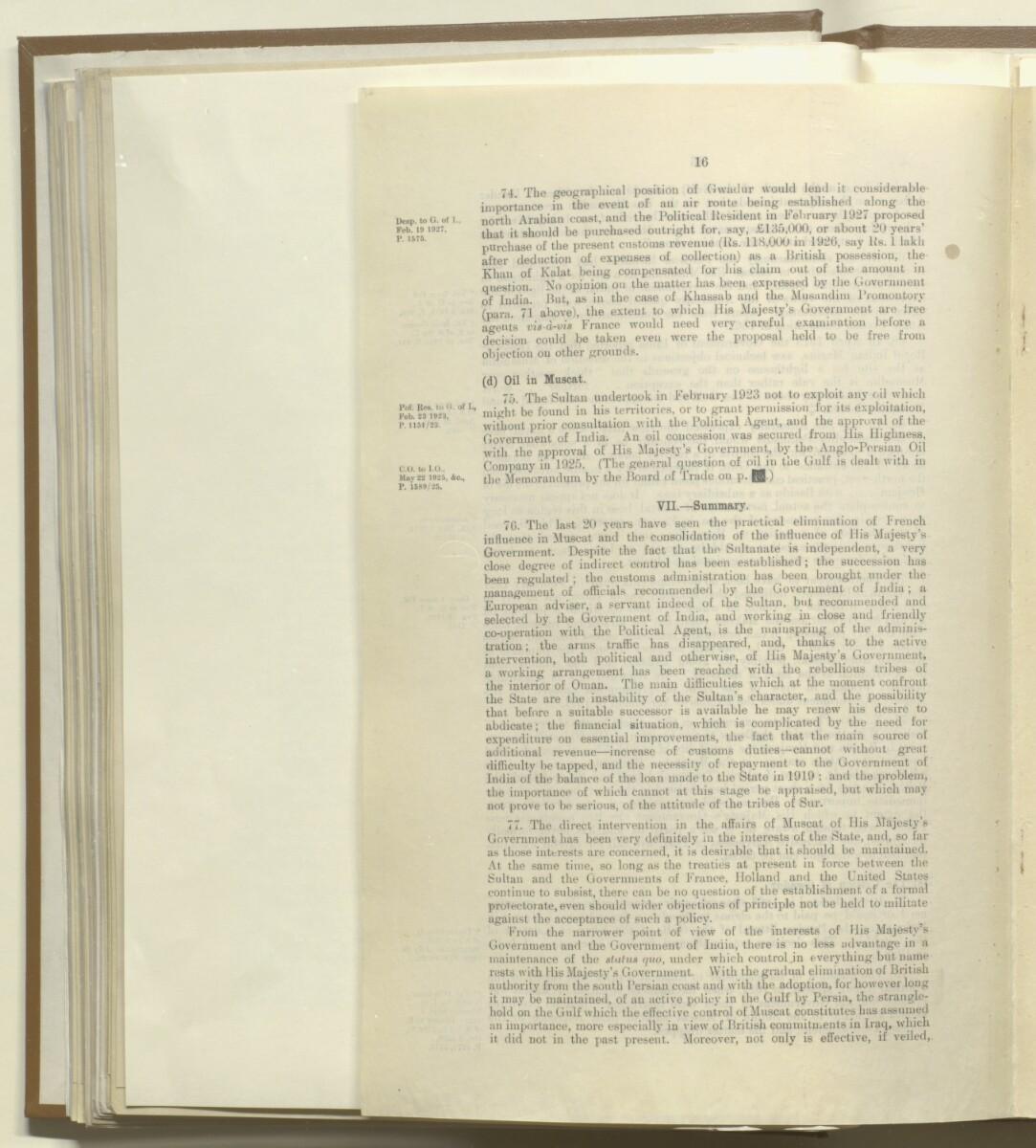 'Muscat: 1908-1928' [47v] (16/18)