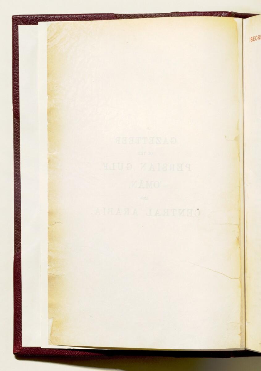 'Gazetteer of the Persian Gulf. Vol I. Historical. Part IA & IB. J G Lorimer. 1915' [ii-v] (11/1782)