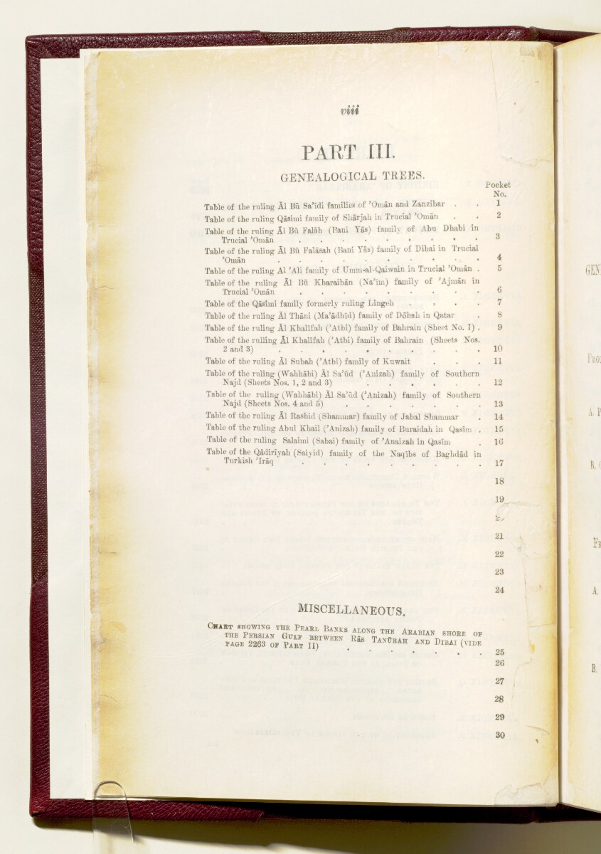 'Gazetteer of the Persian Gulf. Vol I. Historical. Part IA & IB. J G Lorimer. 1915' [‎8] (21/1782)