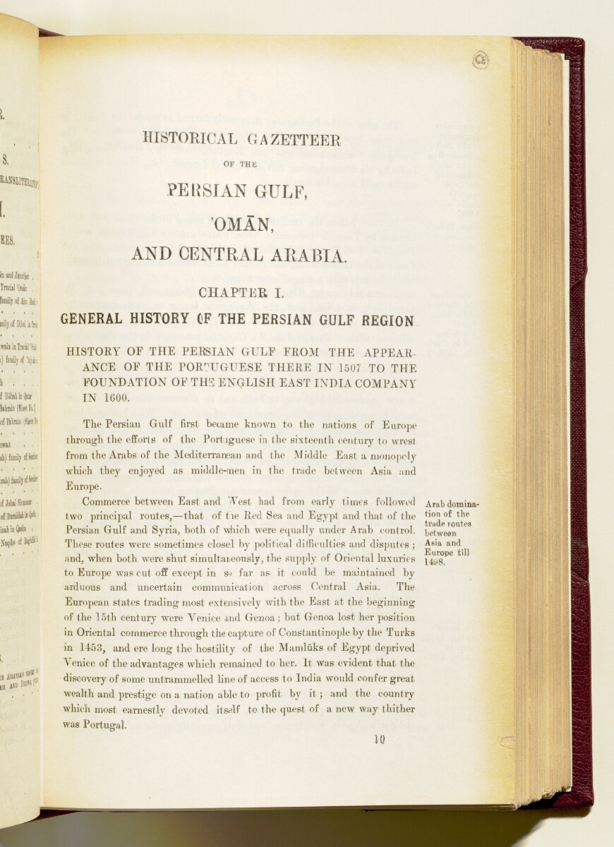 'Gazetteer of the Persian Gulf. Vol I. Historical. Part IA & IB. J G Lorimer. 1915' [‎1] (144/1782)