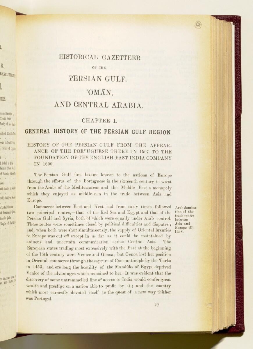 'Gazetteer of the Persian Gulf. Vol I. Historical. Part IA & IB. J G Lorimer. 1915' [1] (144/1782)