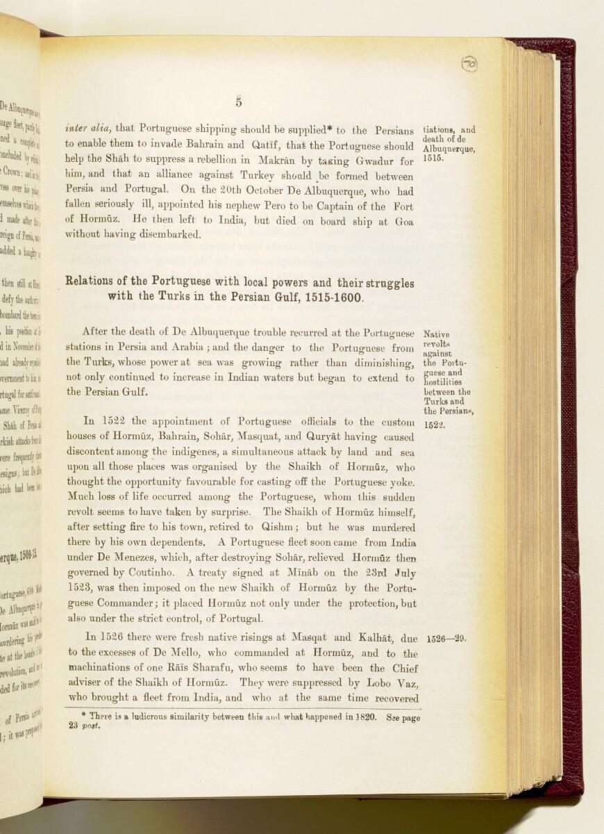'Gazetteer of the Persian Gulf. Vol I. Historical. Part IA & IB. J G Lorimer. 1915' [5] (148/1782)