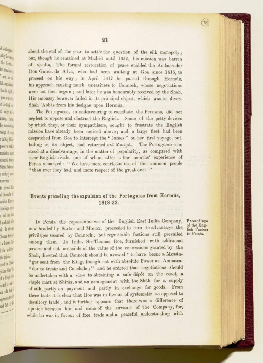 'Gazetteer of the Persian Gulf. Vol I. Historical. Part IA & IB. J G Lorimer. 1915' [21] (164/1782)