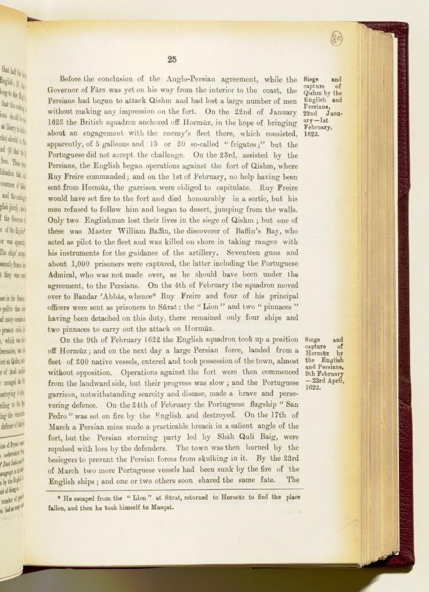 'Gazetteer of the Persian Gulf. Vol I. Historical. Part IA & IB. J G Lorimer. 1915' [25] (168/1782)