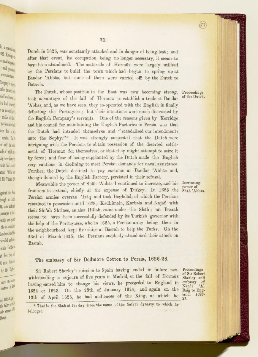 'Gazetteer of the Persian Gulf. Vol I. Historical. Part IA & IB. J G Lorimer. 1915' [31] (174/1782)