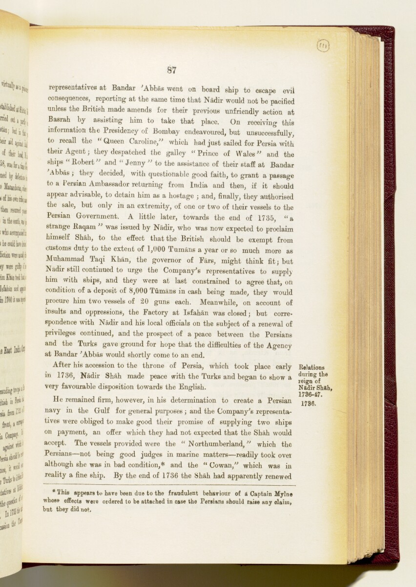 'Gazetteer of the Persian Gulf. Vol I. Historical. Part IA & IB. J G Lorimer. 1915' [‎87] (230/1782)