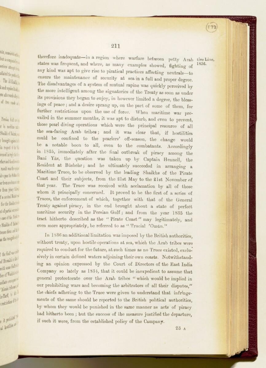 """""""دليل الخليج. مجلد I. القسم التاريخي. الأجزاء Iأ و Iب. ج.ج. لوريمر ١٩١٥"""" [<span dir=""""ltr"""">٢١١</span>] (١٧٨٢/٣٥٤)"""