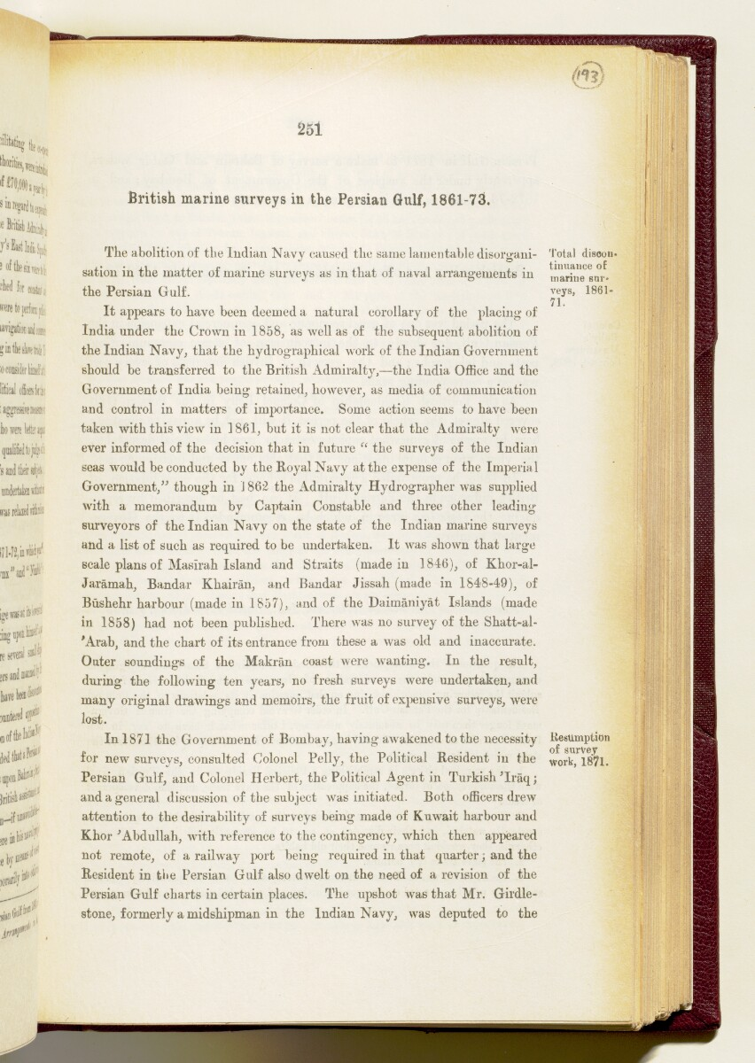 'Gazetteer of the Persian Gulf. Vol I. Historical. Part IA & IB. J G Lorimer. 1915' [‎251] (394/1782)