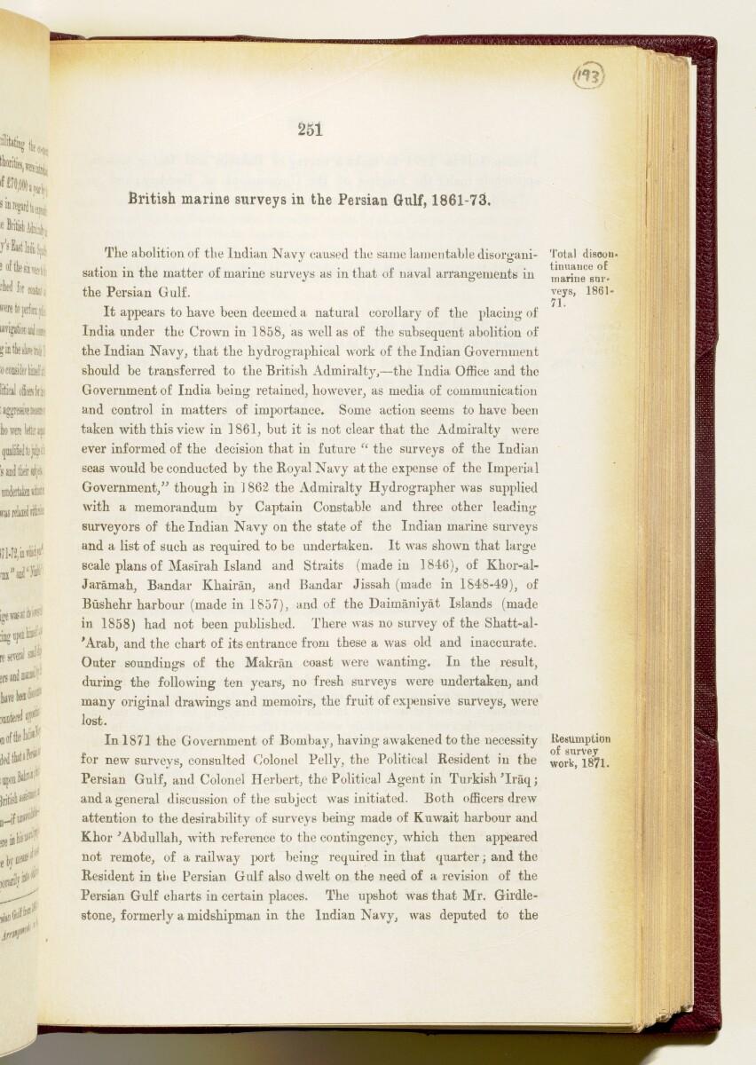 'Gazetteer of the Persian Gulf. Vol I. Historical. Part IA & IB. J G Lorimer. 1915' [251] (394/1782)