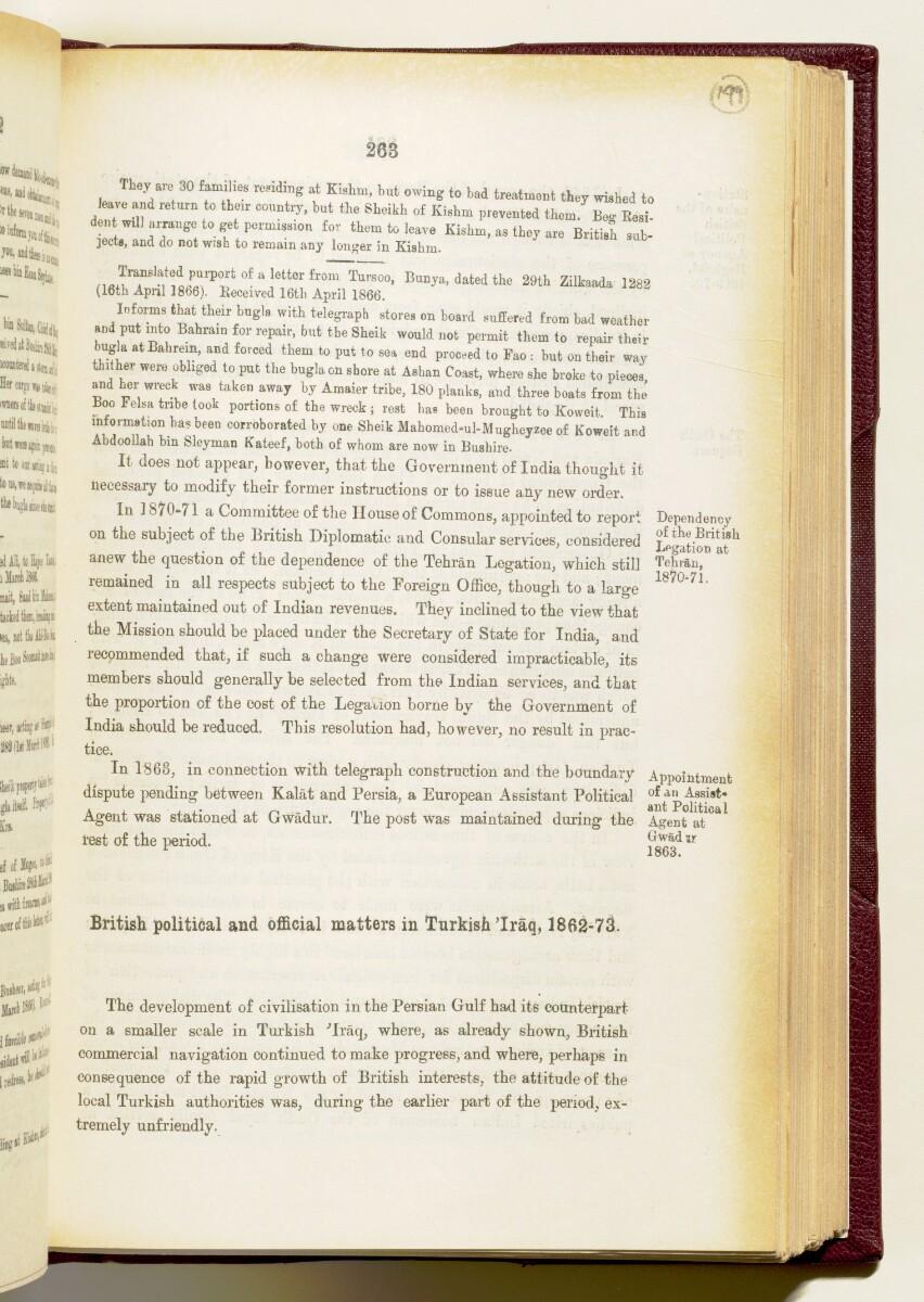 'Gazetteer of the Persian Gulf. Vol I. Historical. Part IA & IB. J G Lorimer. 1915' [263] (406/1782)