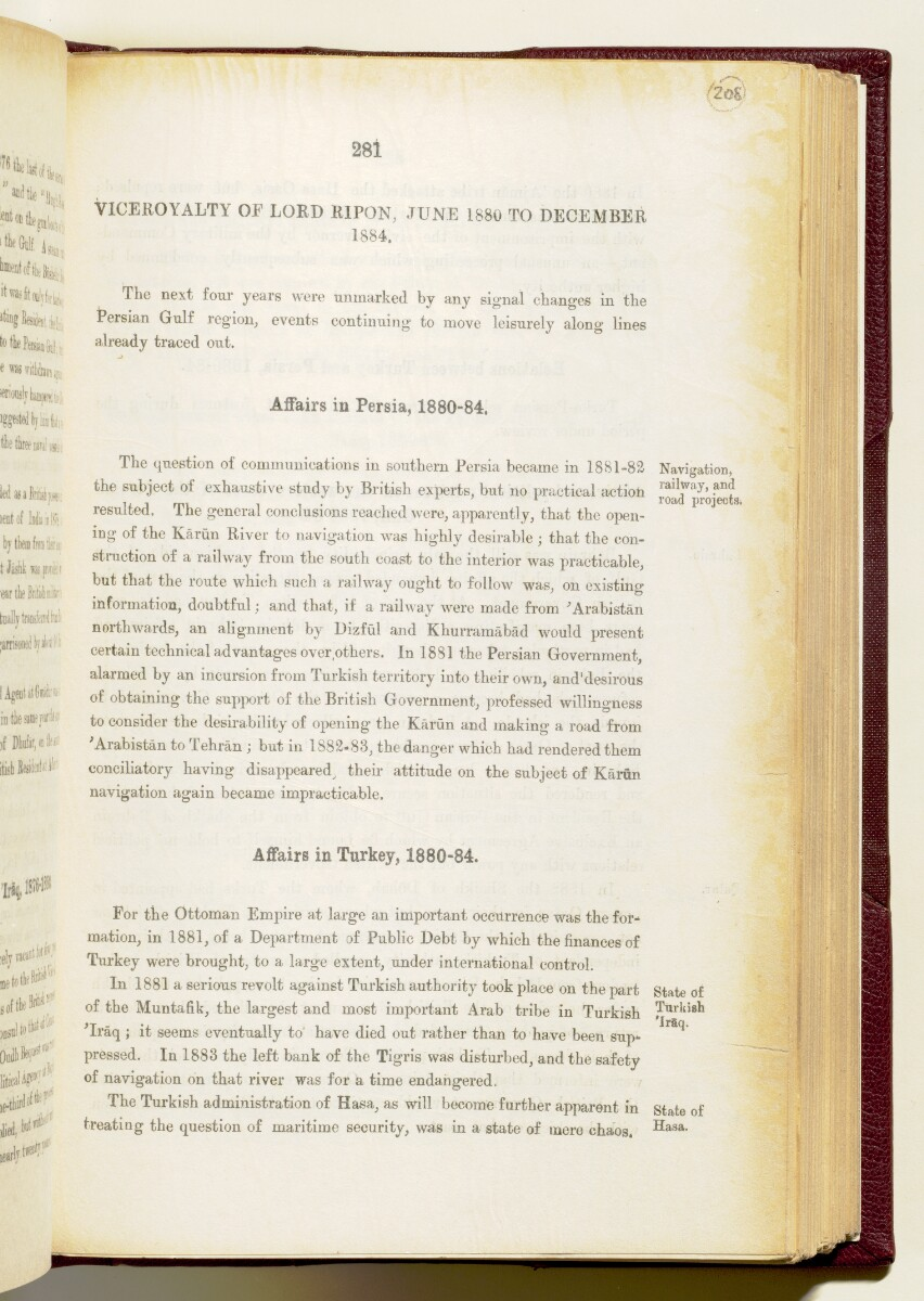 'Gazetteer of the Persian Gulf. Vol I. Historical. Part IA & IB. J G Lorimer. 1915' [281] (424/1782)