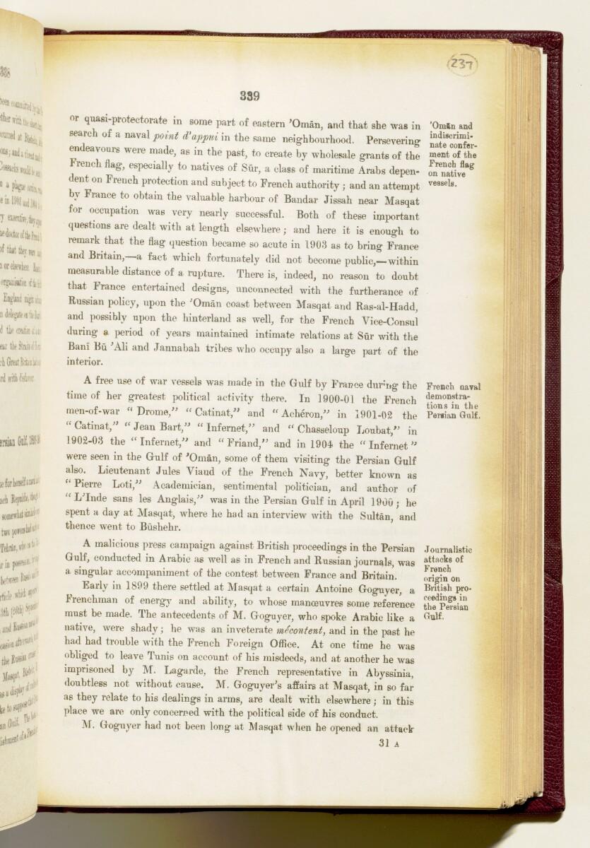 'Gazetteer of the Persian Gulf. Vol I. Historical. Part IA & IB. J G Lorimer. 1915' [339] (482/1782)