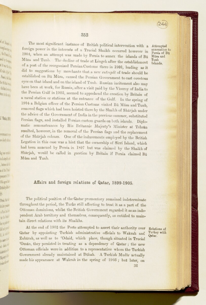 'Gazetteer of the Persian Gulf. Vol I. Historical. Part IA & IB. J G Lorimer. 1915' [‎353] (496/1782)