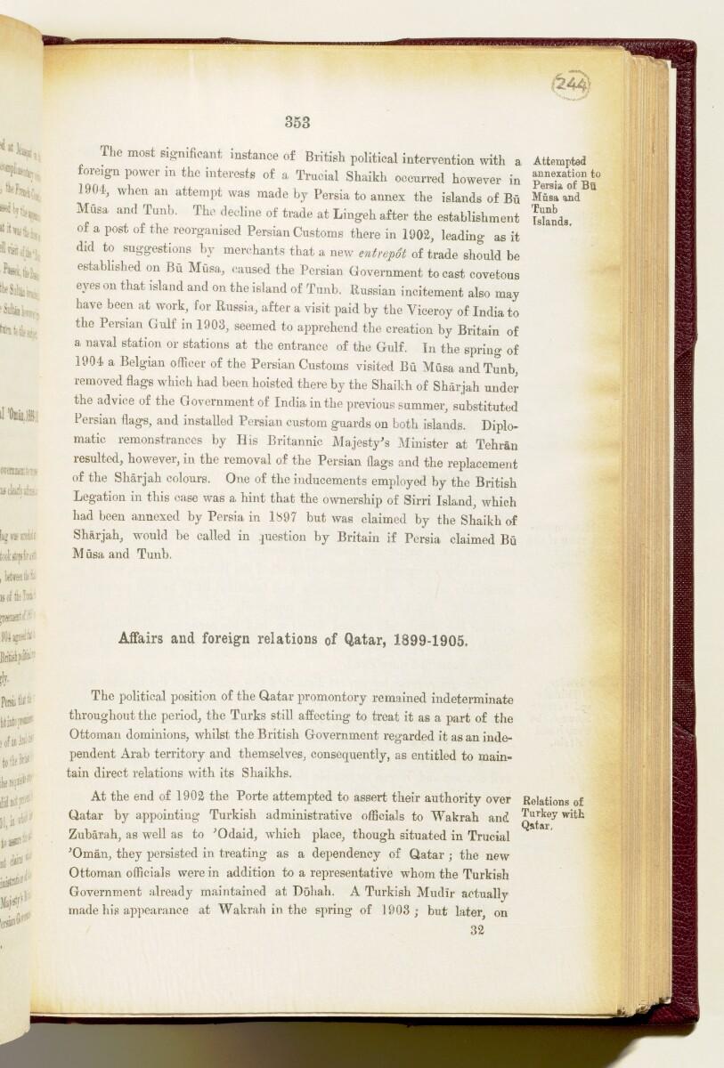 'Gazetteer of the Persian Gulf. Vol I. Historical. Part IA & IB. J G Lorimer. 1915' [353] (496/1782)
