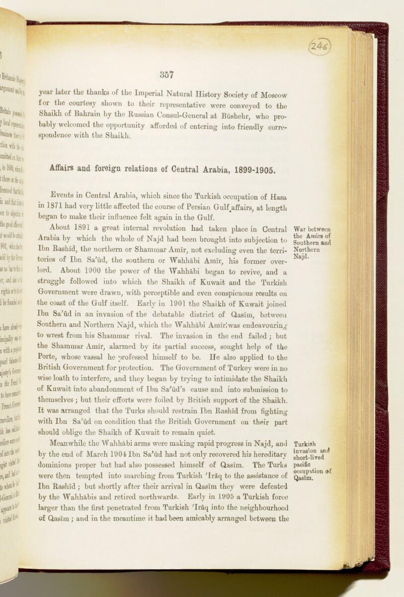 'Gazetteer of the Persian Gulf. Vol I. Historical. Part IA & IB. J G Lorimer. 1915' [357] (500/1782)