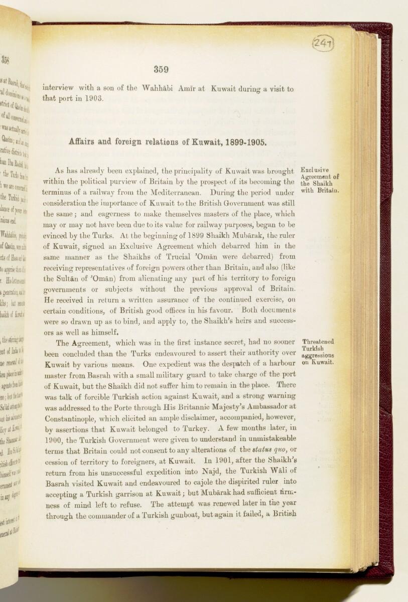 'Gazetteer of the Persian Gulf. Vol I. Historical. Part IA & IB. J G Lorimer. 1915' [359] (502/1782)