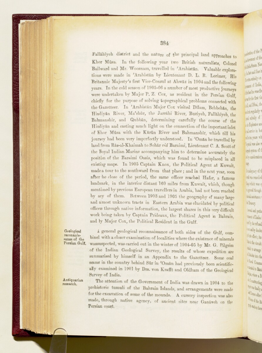'Gazetteer of the Persian Gulf. Vol I. Historical. Part IA & IB. J G Lorimer. 1915' [‎384] (527/1782)