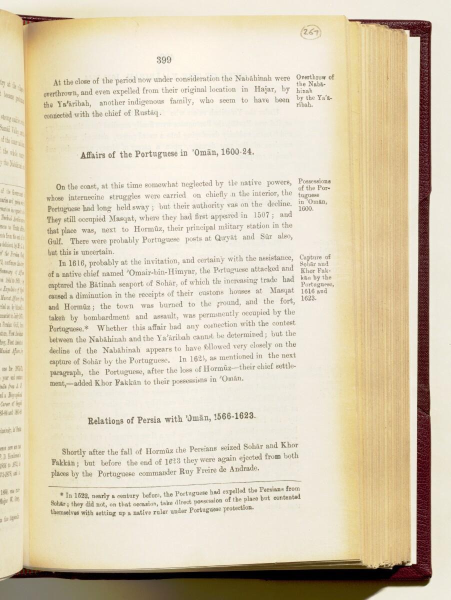 'Gazetteer of the Persian Gulf. Vol I. Historical. Part IA & IB. J G Lorimer. 1915' [399] (542/1782)