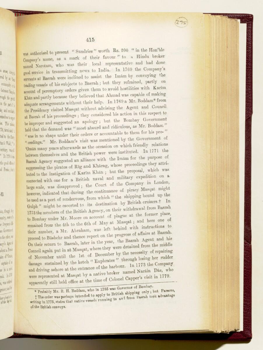 'Gazetteer of the Persian Gulf. Vol I. Historical. Part IA & IB. J G Lorimer. 1915' [415] (558/1782)